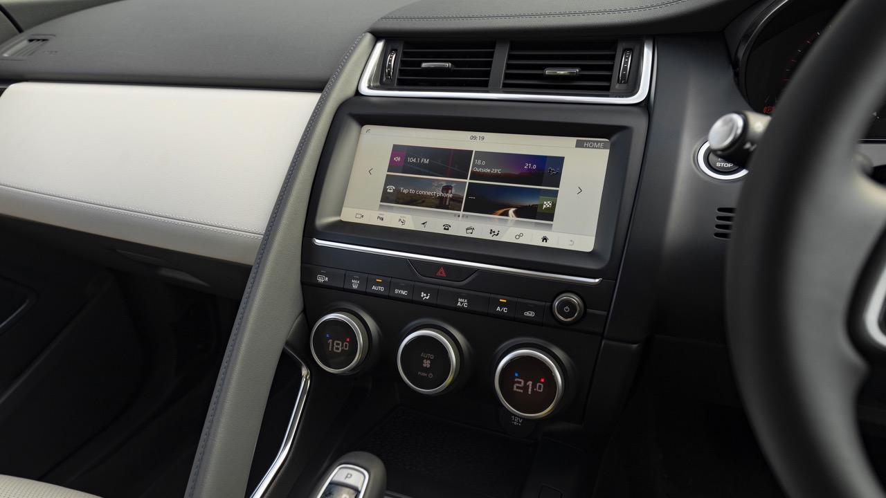 2018 Jaguar E-Pace review P250 touchscreen