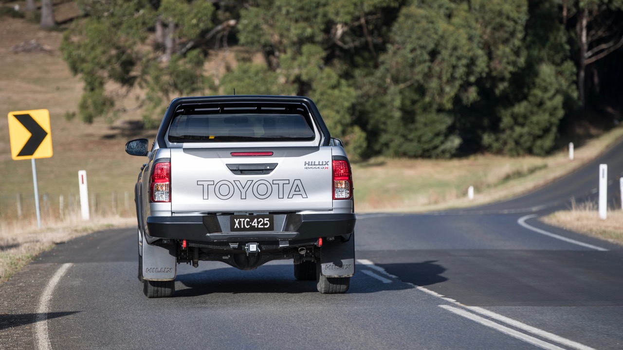 2018 Toyota HiLux Rugged X Rear End Driving