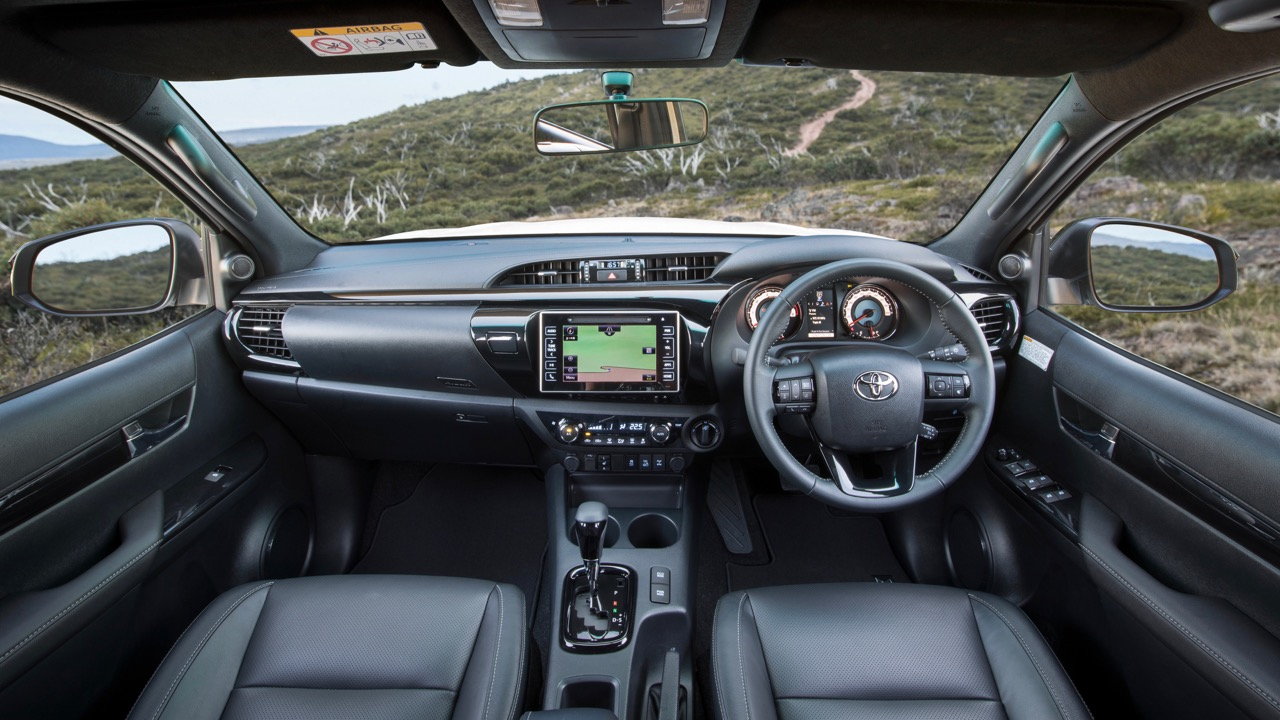 2018 Toyota HiLux Rugged X Review Front Cabin