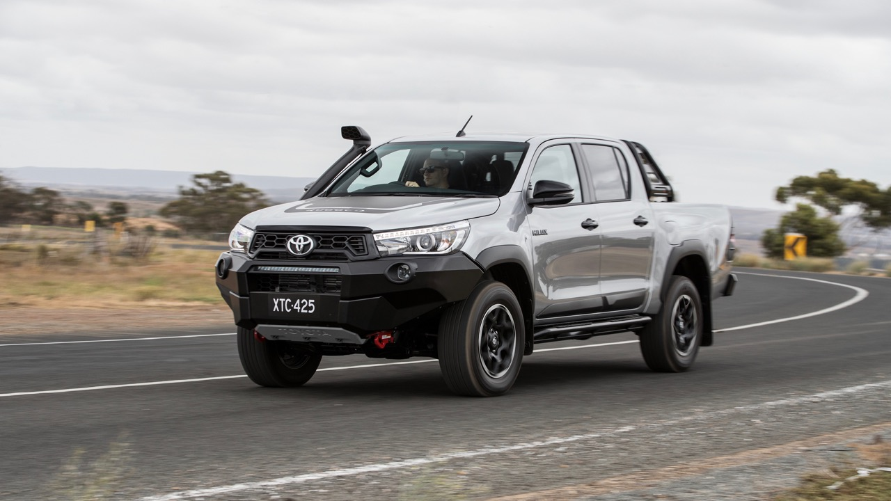 2018 Toyota HiLux Rugged X Review Front Driving