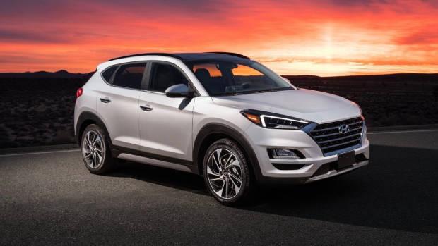 2019 Hyundai Tucson white front cover