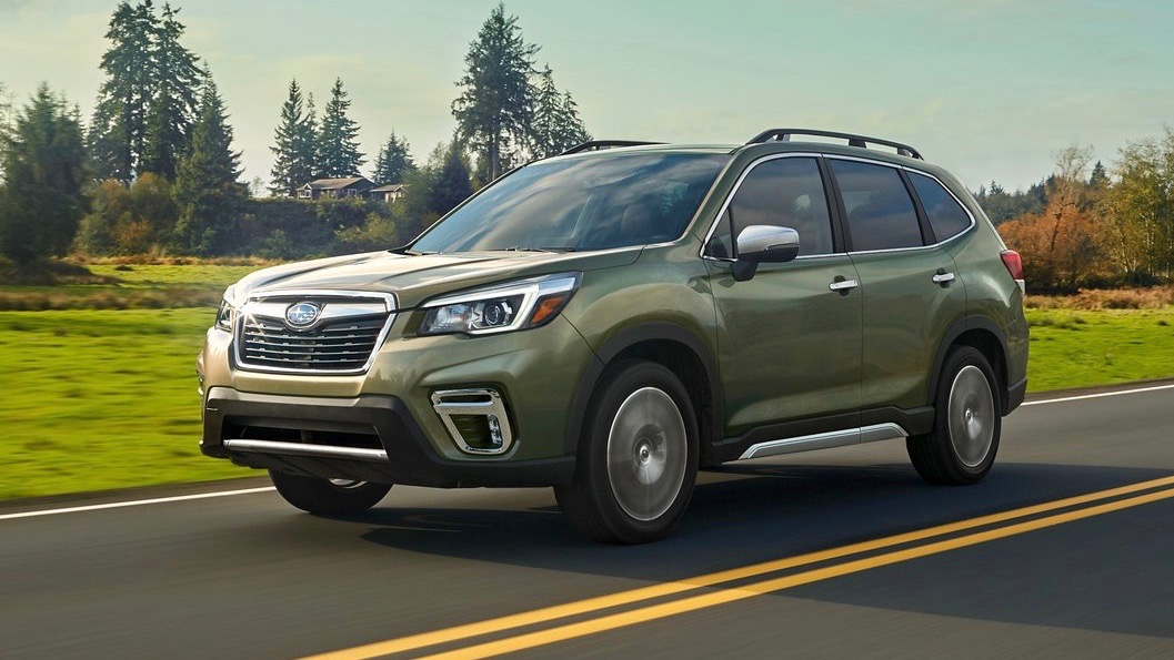 2019 Subaru Forester green front 3/4