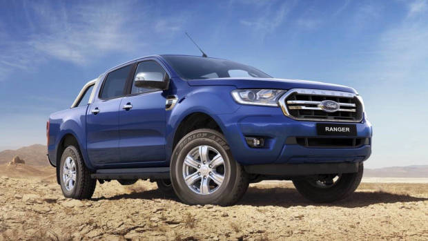2019 Ford Ranger blue front 3/4