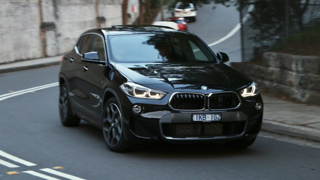 BMW X2 2018 review Black Sapphire front end