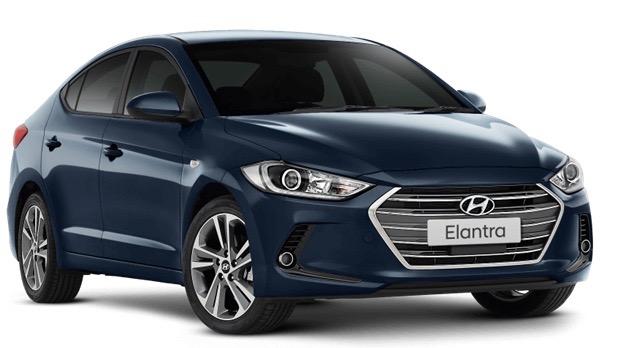 2018 Hyundai Elantra Trophy blue front 3/4