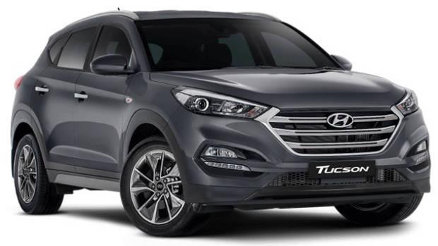 2018 Hyundai Tuscon Trophy grey front 3/4