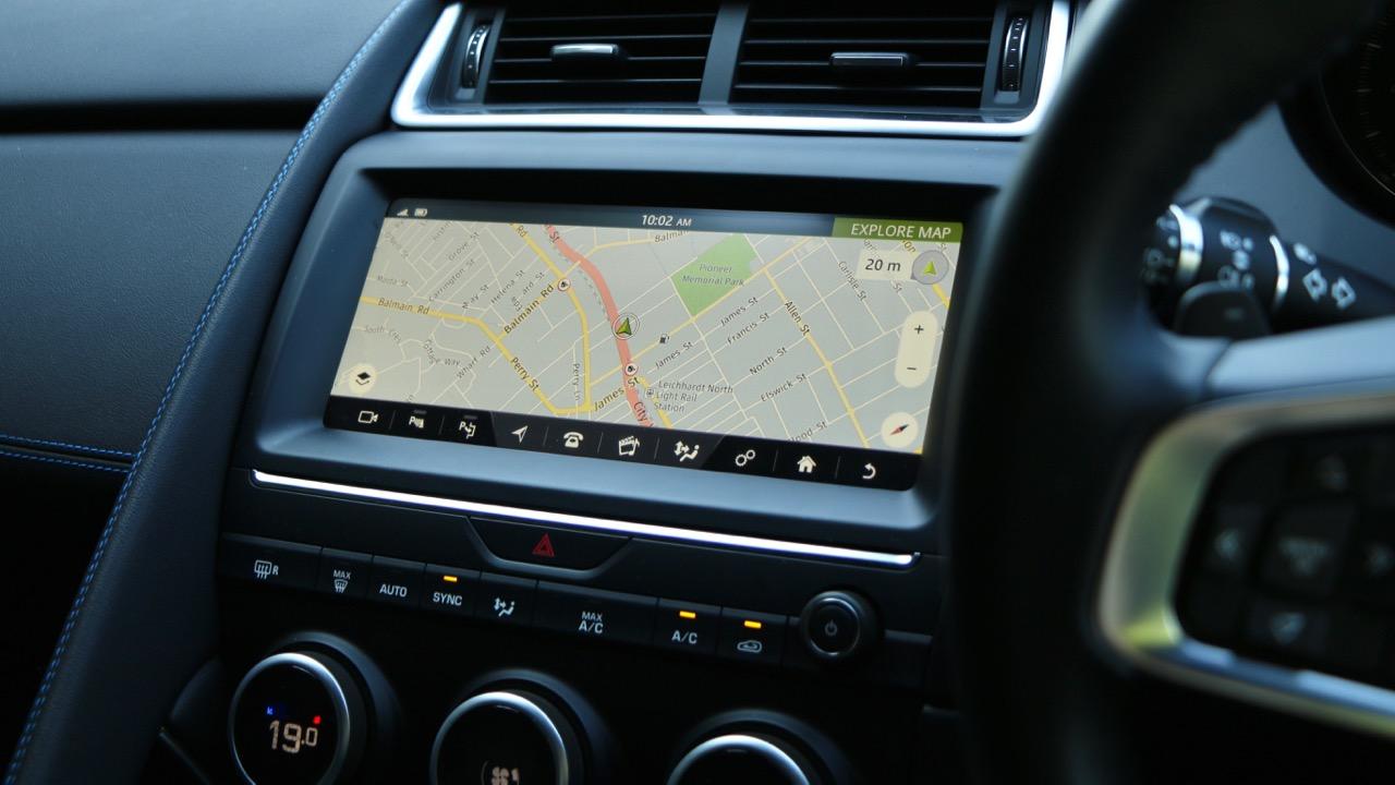 2018 Jaguar E-Pace review D180 InControl Touch Pro