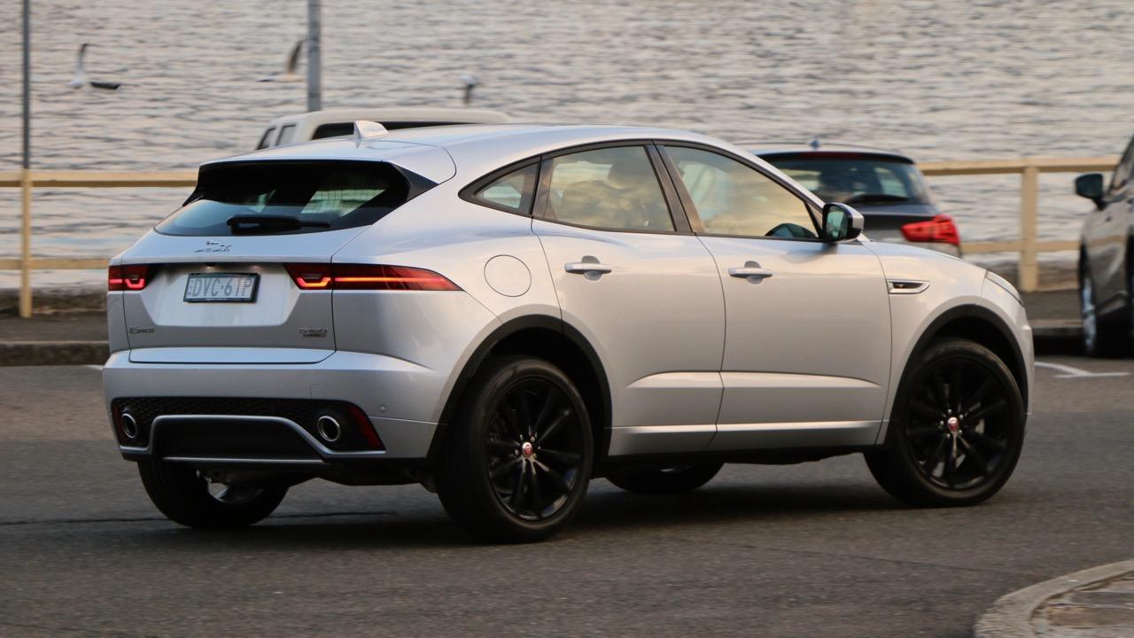 2018 Jaguar E-Pace review D180 Indus Silver back end