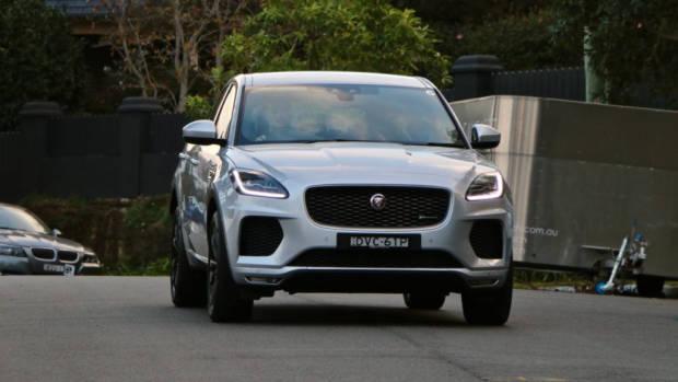 2018 Jaguar E-Pace review D180 Indus Silver front end