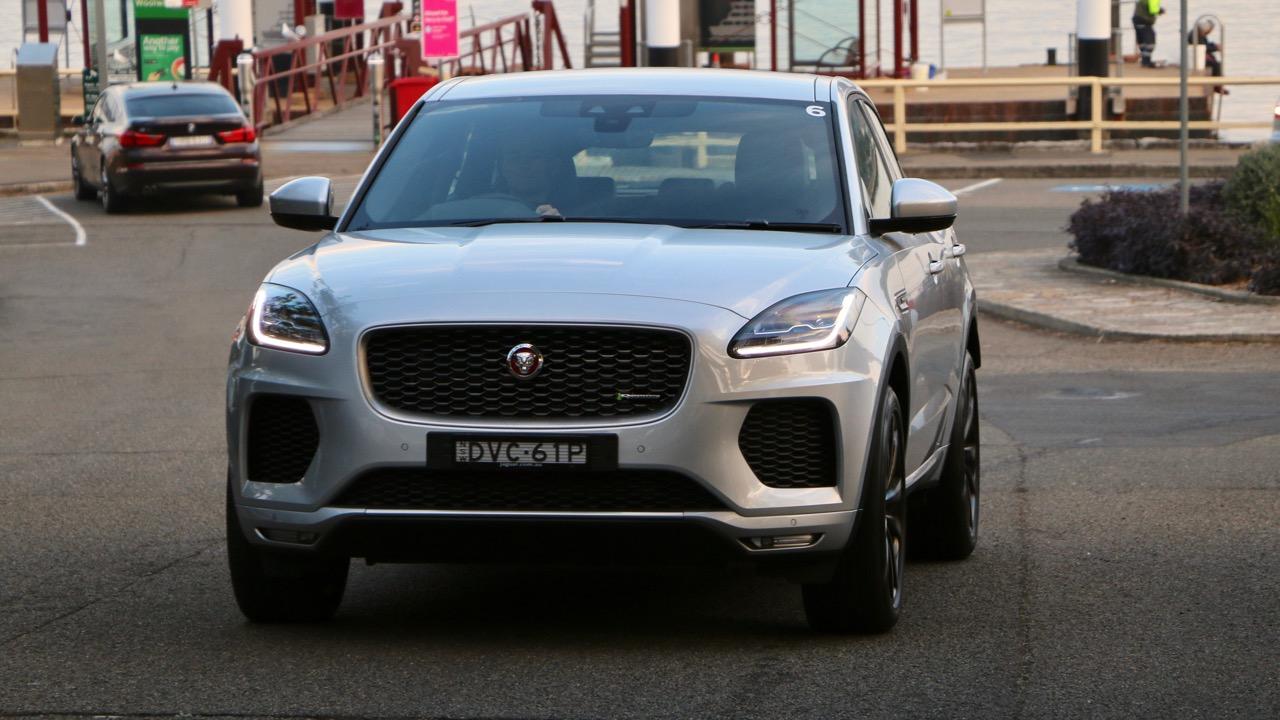 2018 Jaguar E-Pace review D180 Indus Silver front