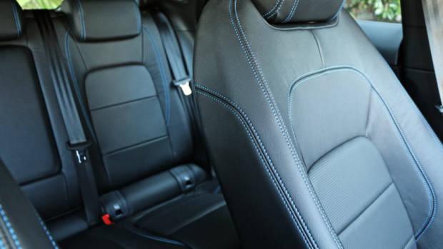 2018 Jaguar E-Pace review D180 black leather interior