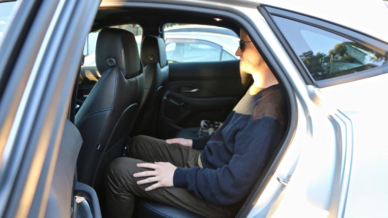 2018 Jaguar E-Pace review D180 rear seat space