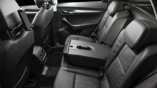 2018 Skoda Karoq rear seat armrest
