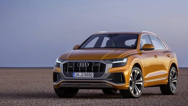 2019 Audi Q8 gold front 3/4
