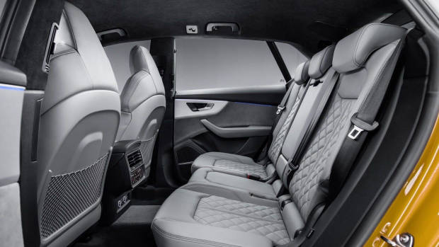 2019 Audi Q8 rear seat