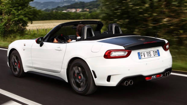 Abarth 124 Spider Monza Edition rear driving
