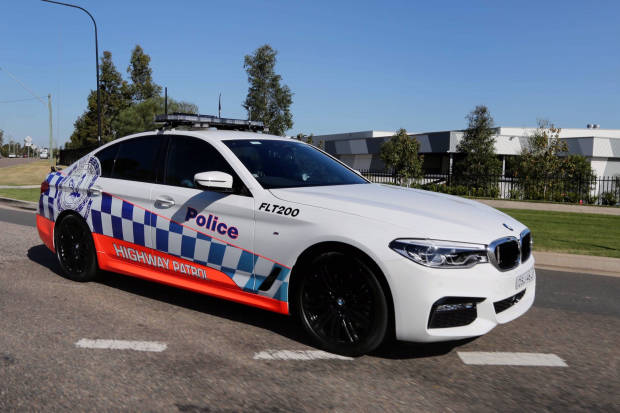 BMW 530d NSW Police front 3/4