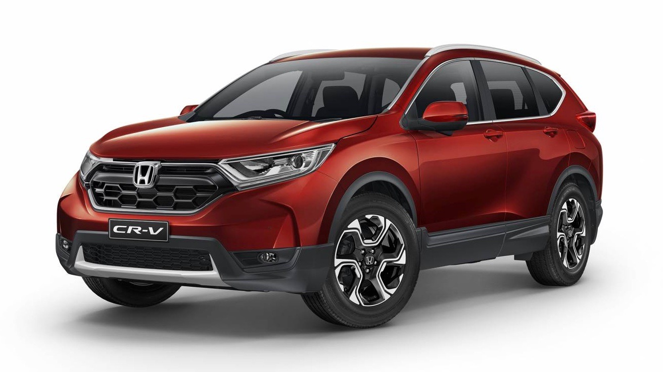 2018 Honda CR-V +Sport red front 3/4