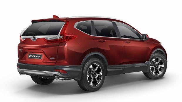 2018 Honda CR-V +Sport red rear 3/4