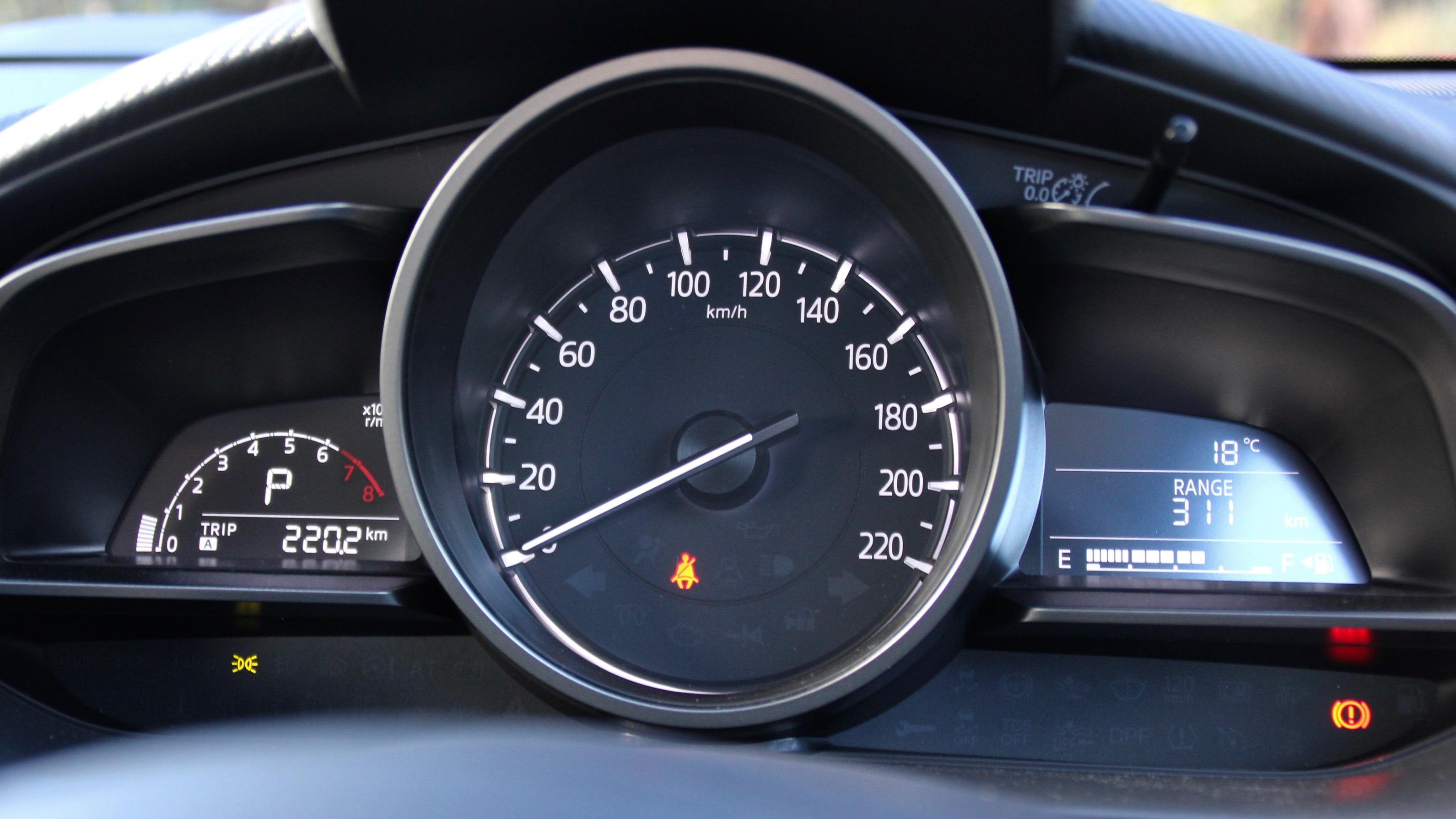 2018 Mazda CX-3 dials
