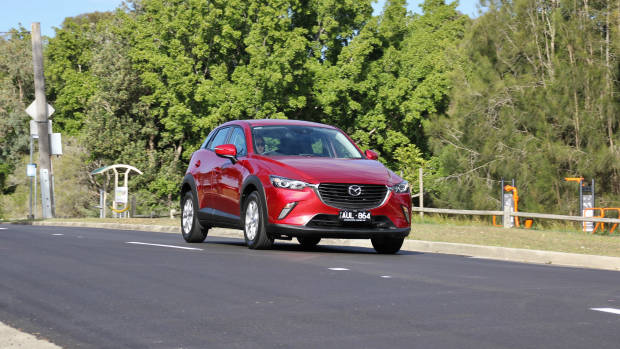 2018 Mazda CX-3 front 3/4 moving