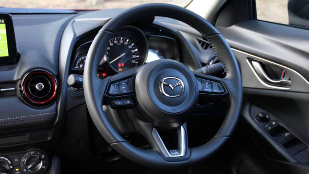 2018 Mazda CX-3 steering wheel detail