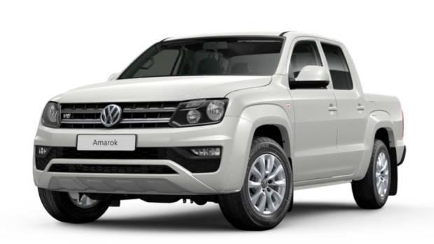 2019 Volkswagen Amarok Core V6 white front 3/4