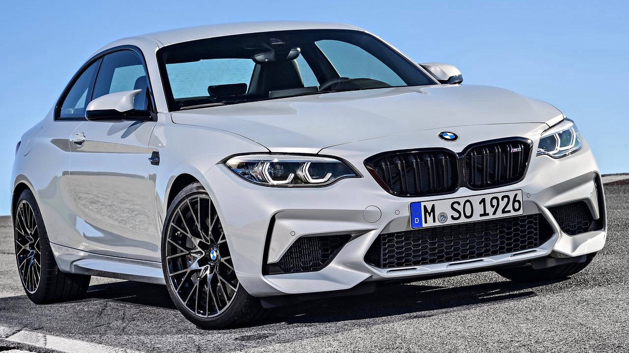 2019 BMW M2 Competition Hockenheim Silver front 3/4