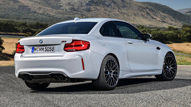 2019 BMW M2 Competition Hockenheim Silver rear 3/4