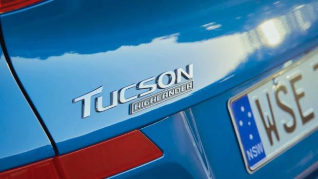 2019 Hyundai Tucson Highlander badge