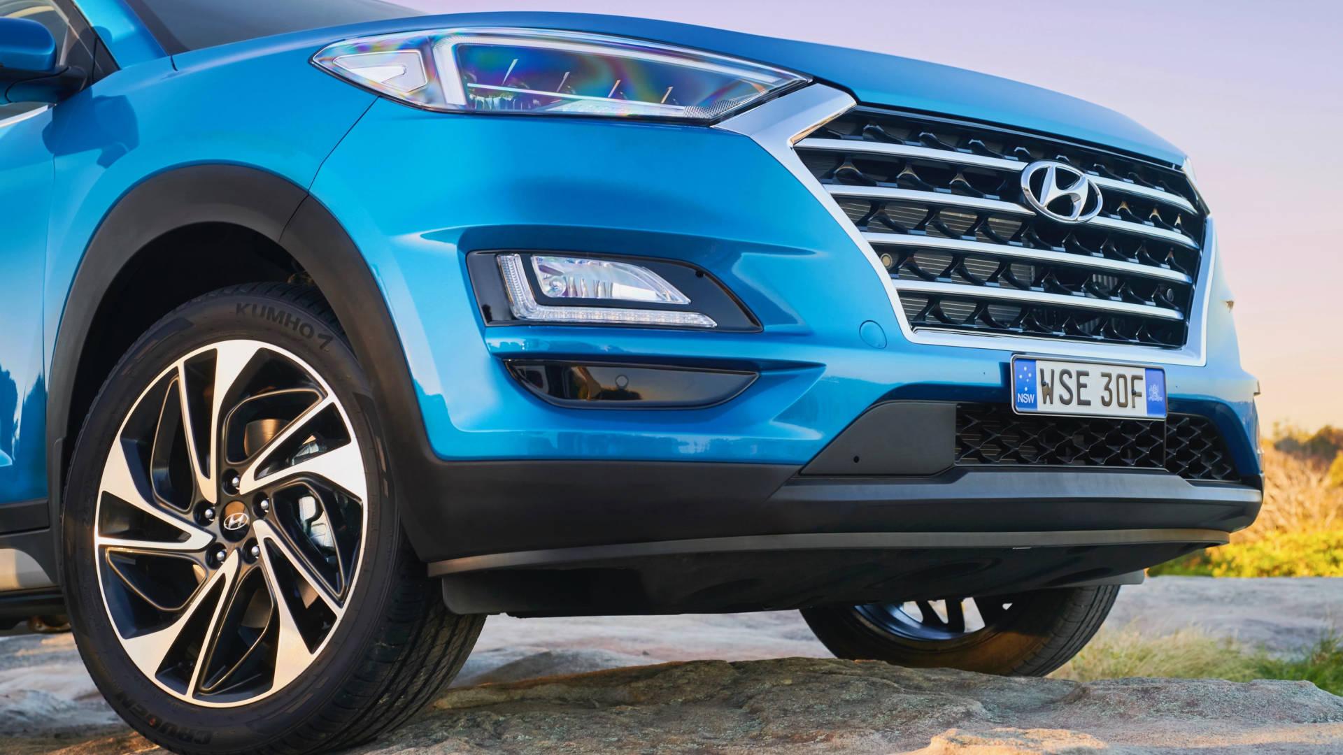 2019 Hyundai Tucson Highlander front detail