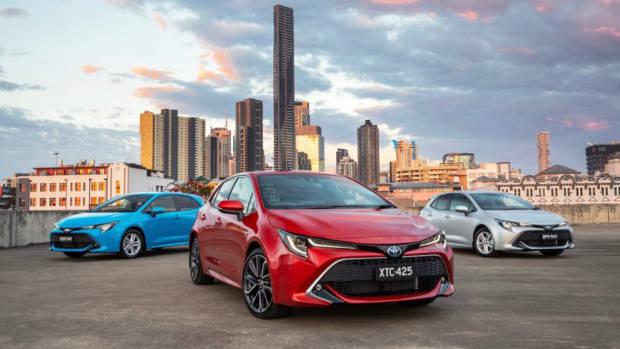 2019 Toyota Corolla range front 3/4