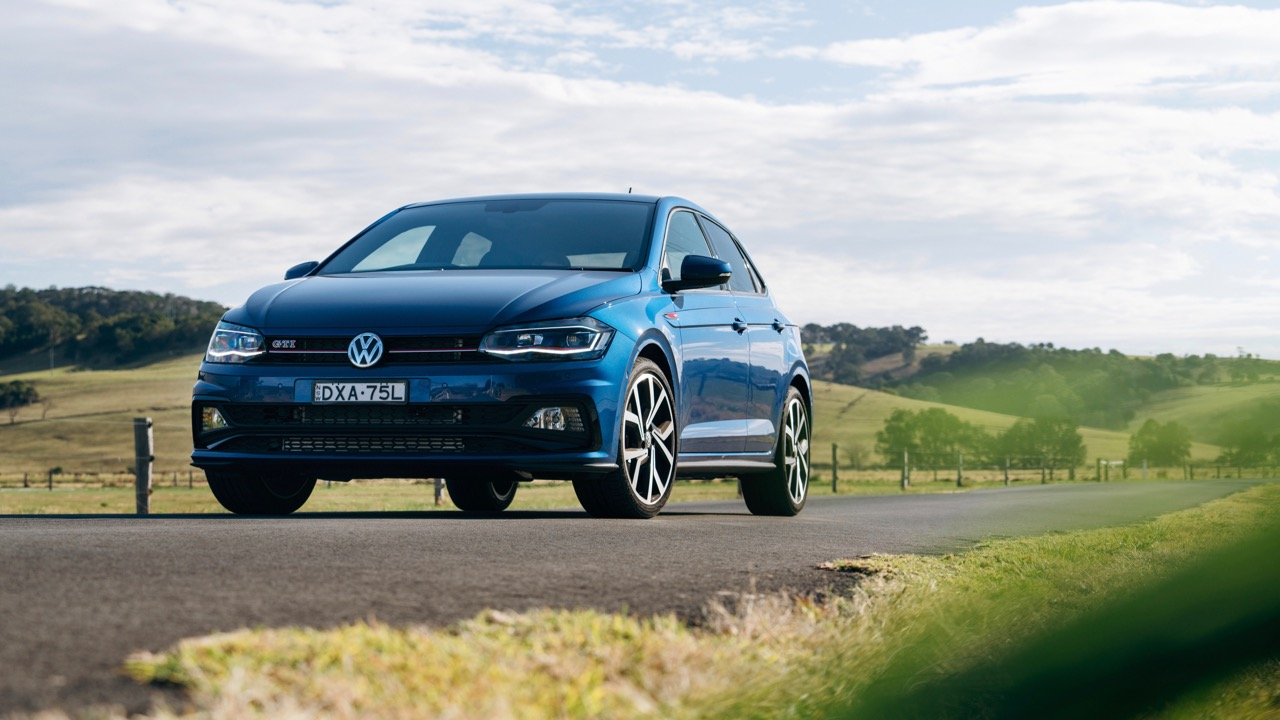 2019 Volkswagen Polo GTI Reef Blue driving