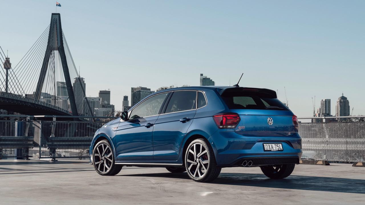 2019 Volkswagen Polo GTI Reef Blue rear end
