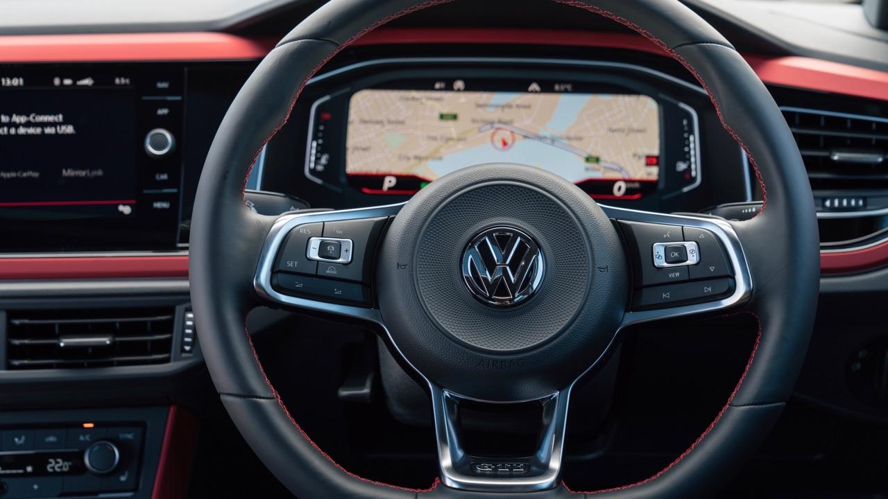 2019 Volkswagen Polo GTI steering wheel