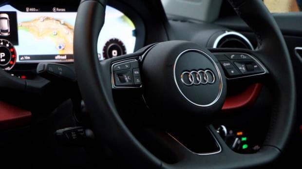 Audi Q2 flat bottom steering wheel