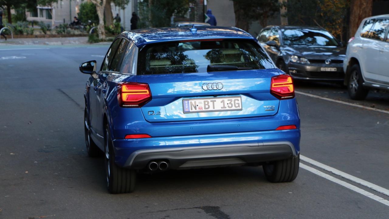 Audi Q2 sport Ara Blue rear end