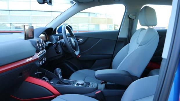 Audi Q2 sport grey leather interior