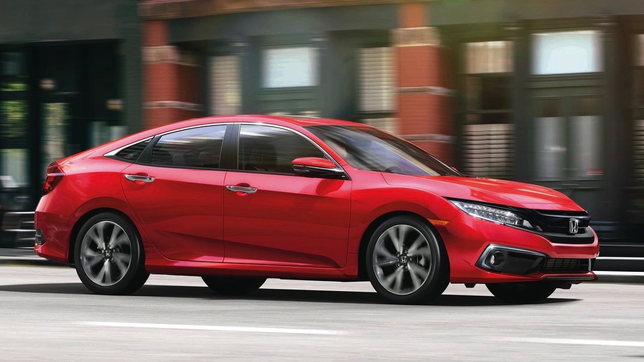 2019 Honda Civic Touring sedan (US) red front