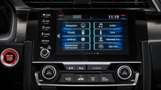 2019 Honda Civic infotainment screen