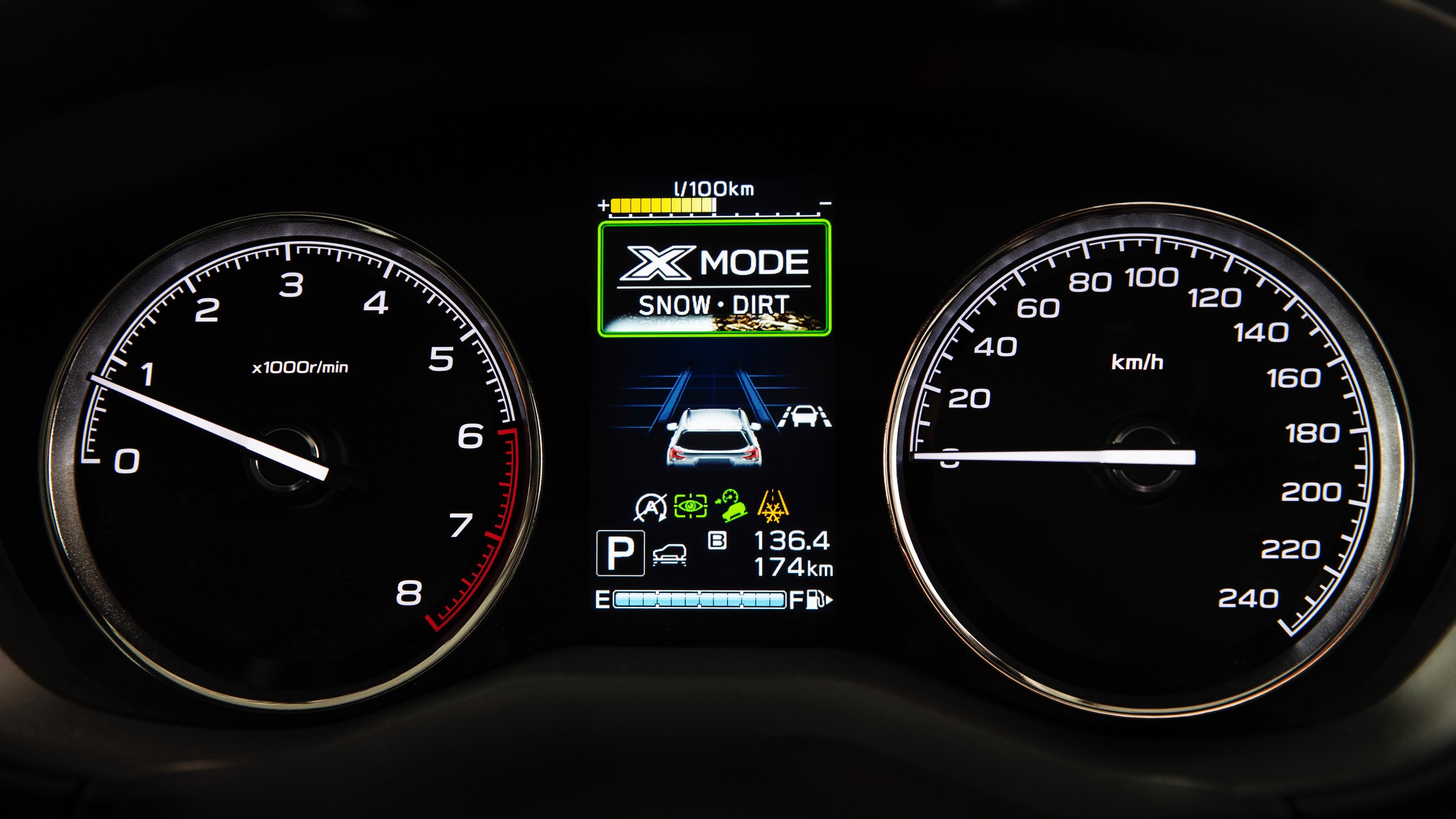 2019 Subaru Forester dials