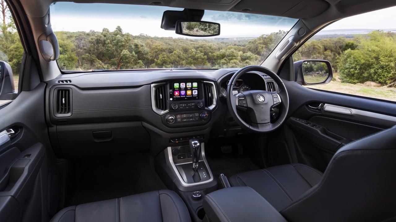 Holden Colorado Z71 Black Leather Interior