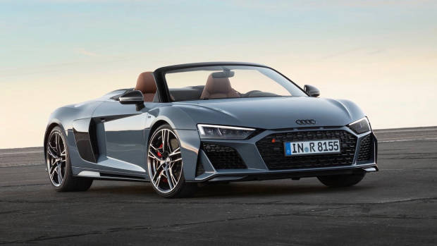 2019 Audi R8 roadster front 3/4