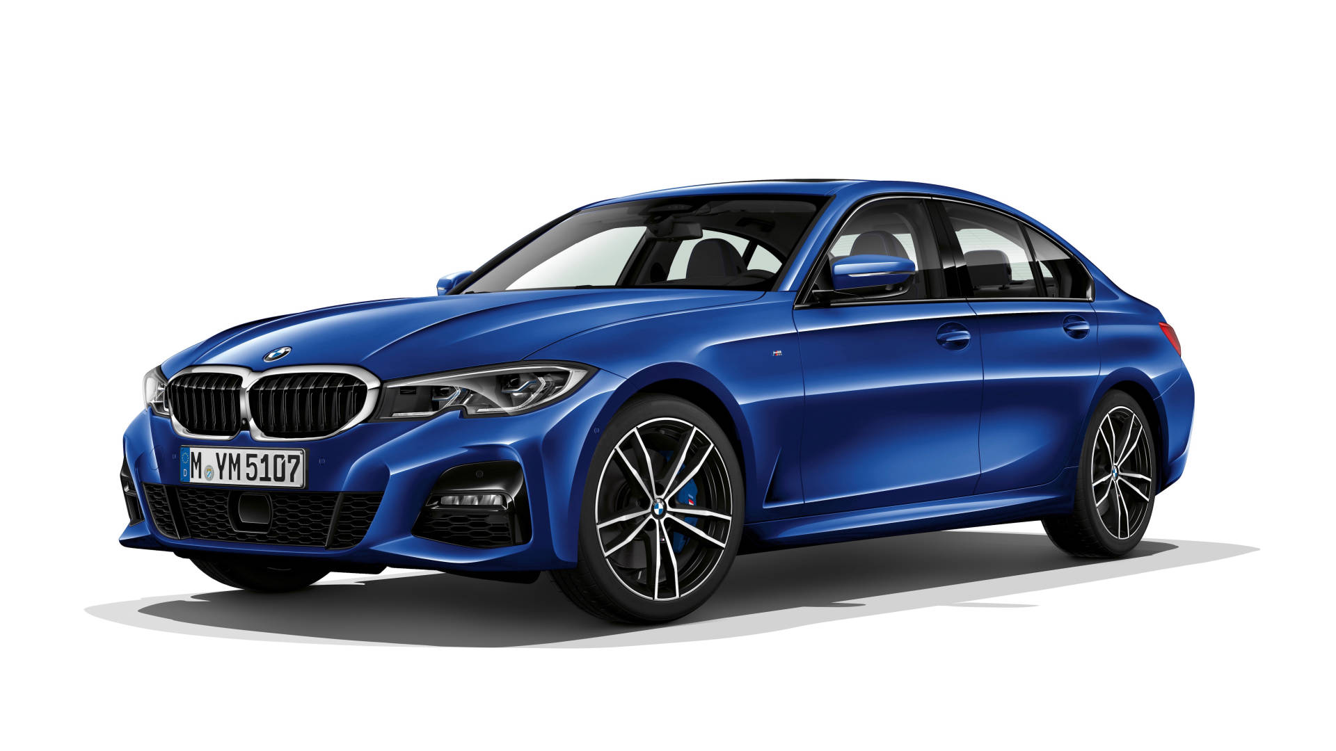 2019 BMW 3 Series front 3/4