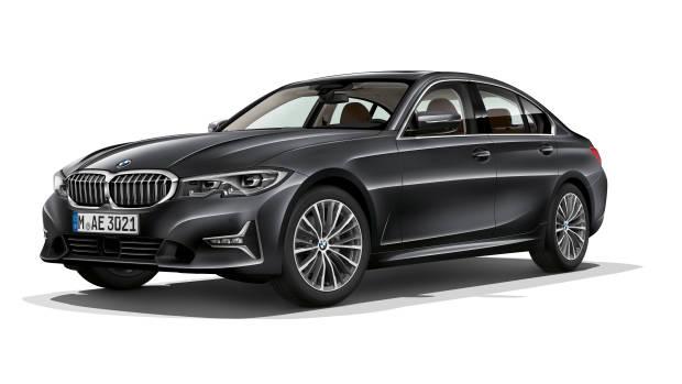 2019 BMW 3 Series grey front 3/4
