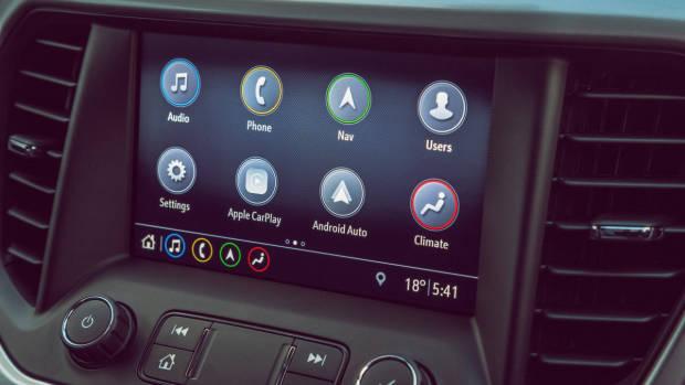 2019 Holden Acadia 8 inch touchscreen