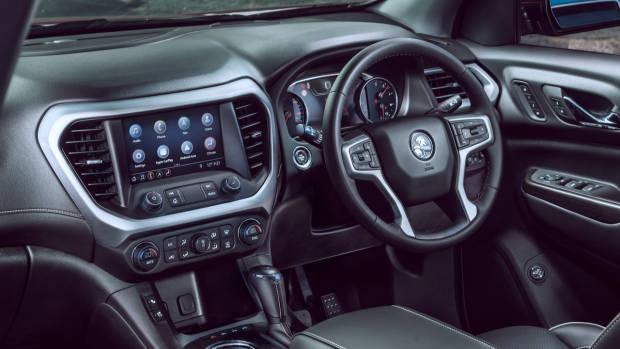 2019 Holden Acadia LTZ black leather interior
