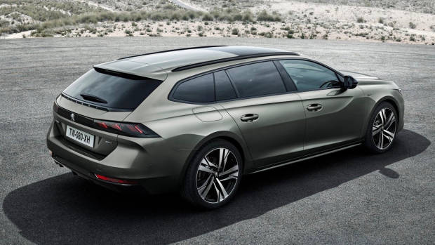 2019 Peugeot 508 Touring bronze rear 3/4