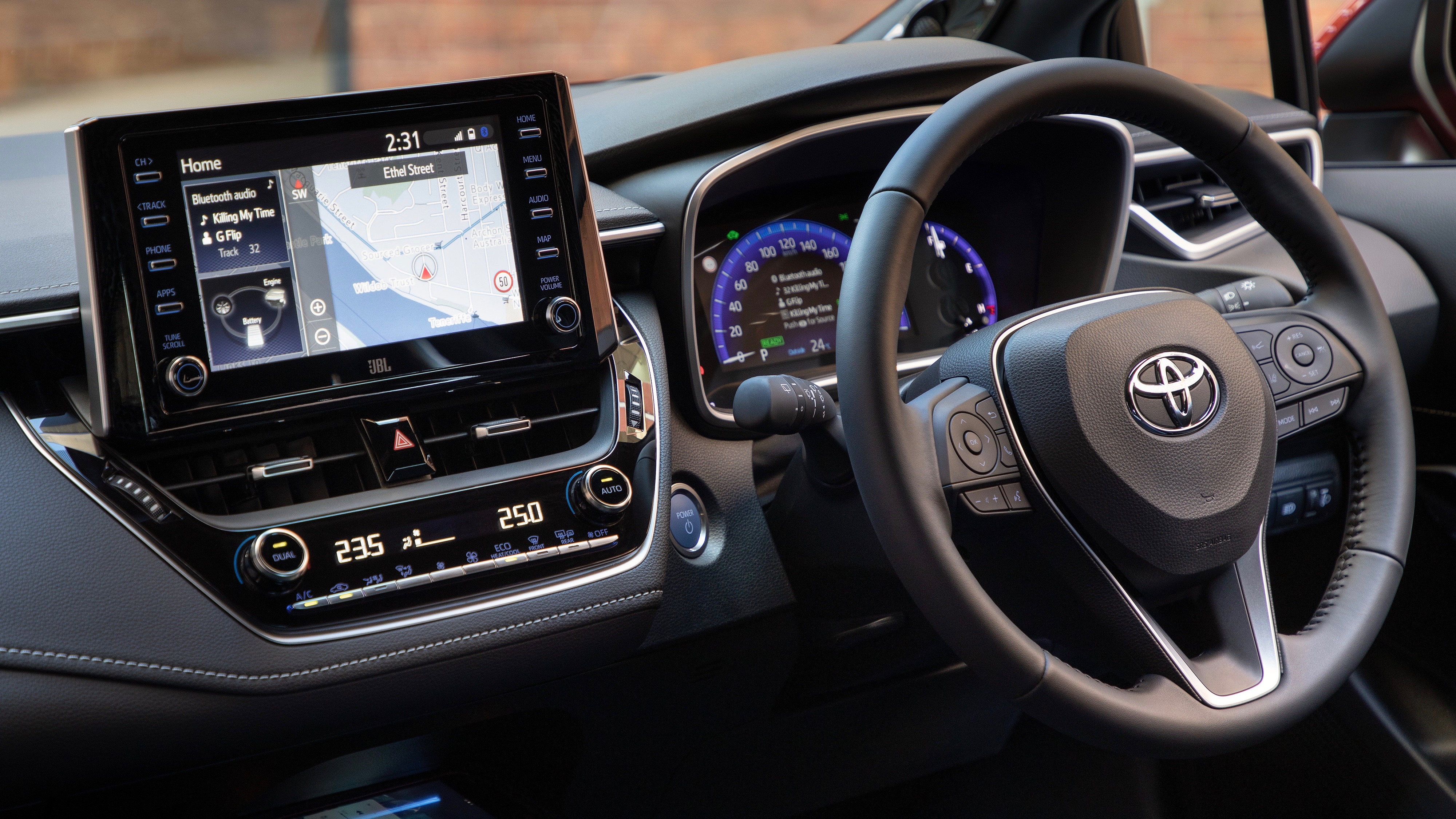 2019 Toyota Corolla ZR hybrid dashboard side