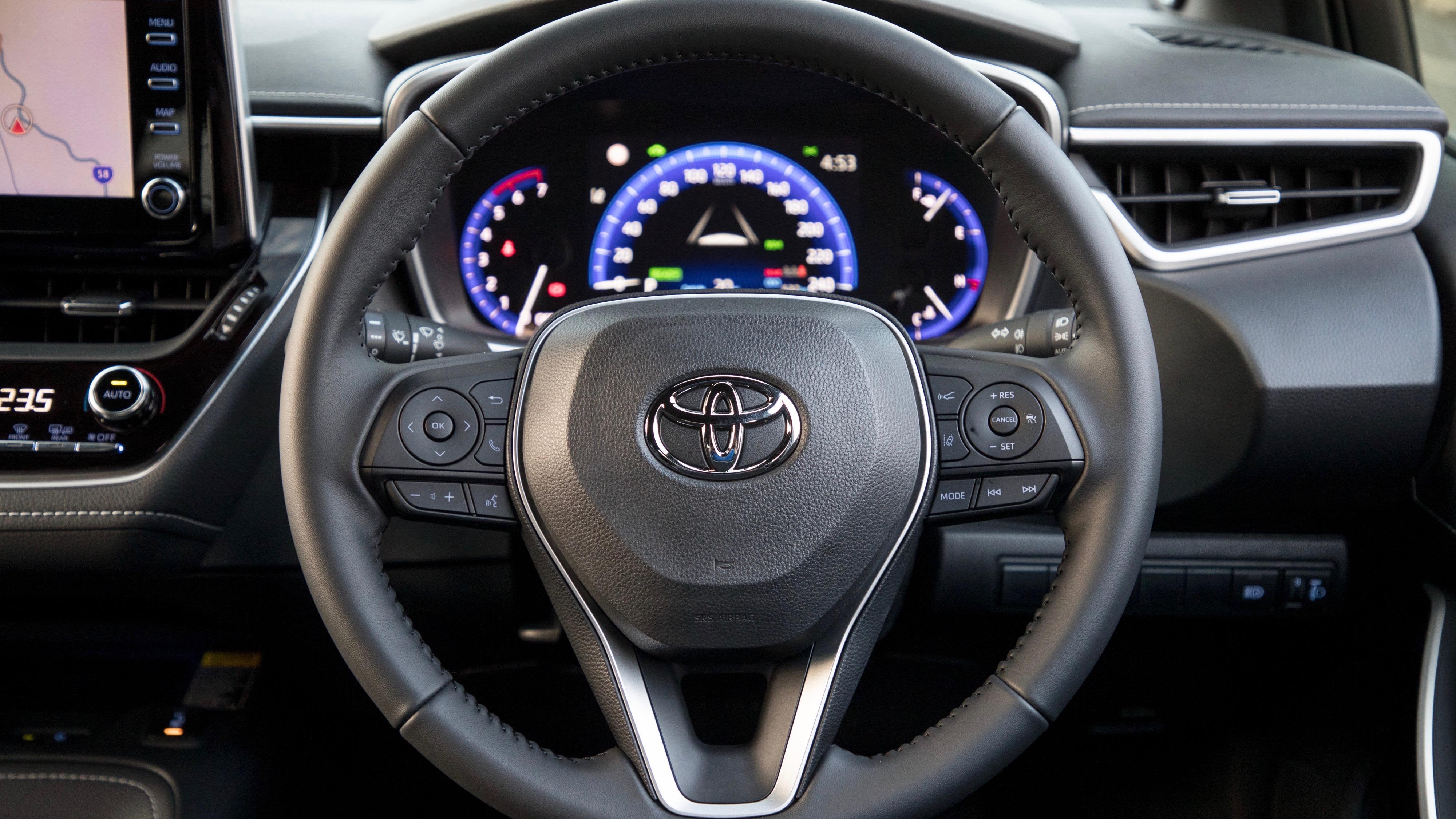 2019 Toyota Corolla ZR hybrid steering wheel